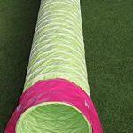 """Tunnel agility """"Professionnel"""" en couleur vert-lémon, selon les normes FCI, 3 m, Ø 60cm - 2 sacs de lestages déjà inclus de la marque Callieway® TOP 6 image 1 produit"""