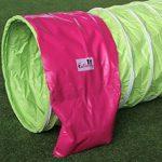 """Tunnel agility """"Professionnel"""" en couleur vert-lémon, selon les normes FCI, 3 m, Ø 60cm - 2 sacs de lestages déjà inclus de la marque Callieway® TOP 6 image 2 produit"""