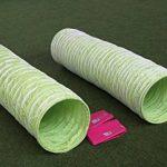 """Tunnel agility """"Professionnel"""" en couleur vert-lémon, selon les normes FCI, 3 m, Ø 60cm - 2 sacs de lestages déjà inclus de la marque Callieway® TOP 6 image 3 produit"""