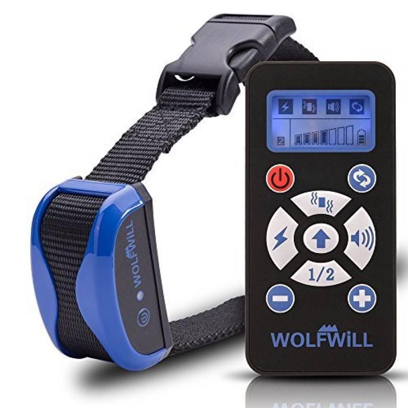 WOLFWILL Collier de Dressage Anti-aboiement Etanche Rechargeable pour Chien en Mode de Bip / Vibration, Automatique Ecran LCD pour Un Chien de la marque Wolfwill TOP 3 image 0 produit