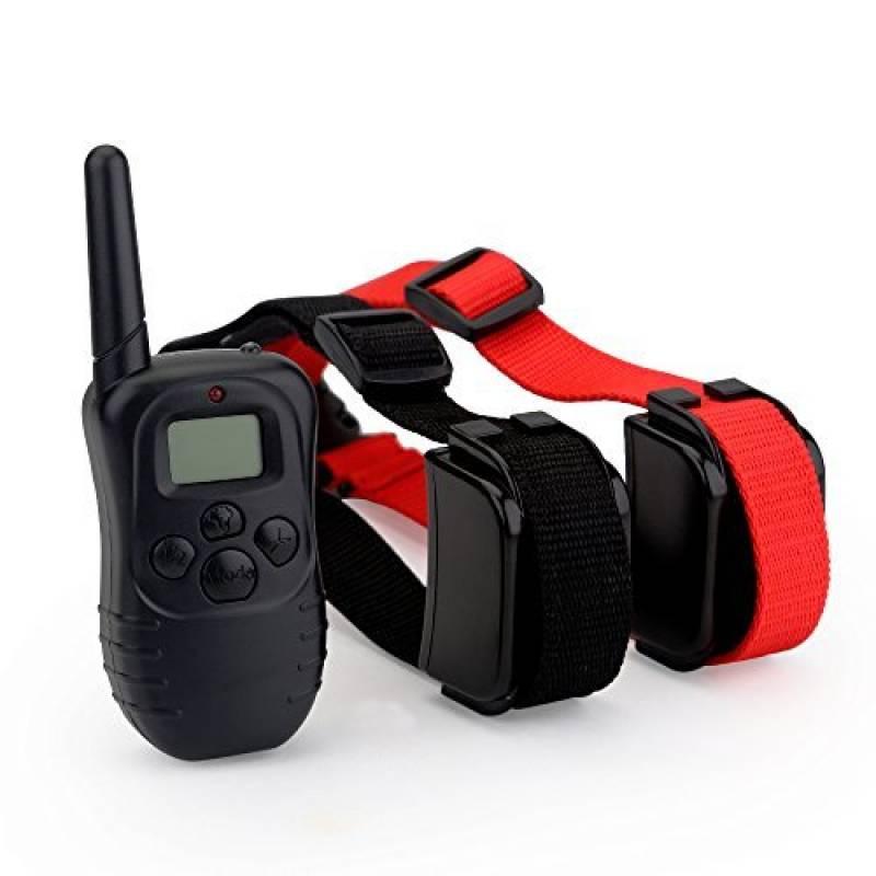 Zogin Collier de Dressage étanche rechargeable pour Deux Chiens - Collier anti-aboiement électrique d'une portée de 300m - 100 niveaux de vibration avec une LCD Télécommande numérique - 2 Colliers TOP 4 image 0 produit