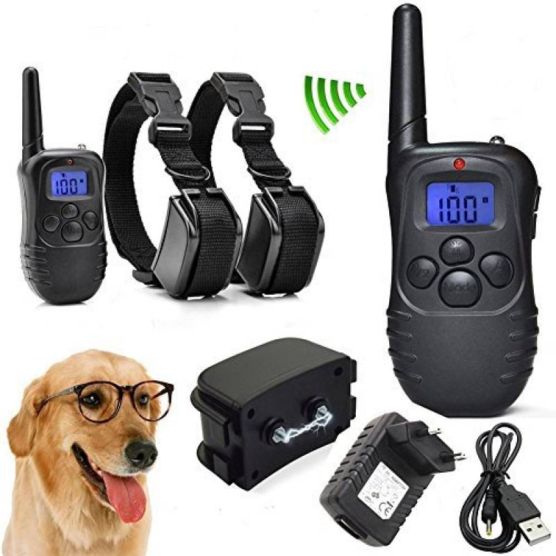 Heliomax 1x télécommande + 2x collier de dressage vibration Imperméable étanche pour chien rechargeable portee 300M 100 level LED display de la marque Heliomax TOP 8 image 0 produit