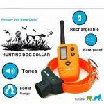 ROGUCI 500M chien de chasse à distance chien Beeper collier rechargeable imperméable Dog Colliers d'entraînement Pet Trainer Hunter Beeper anti-écorce avec rétro-éclairage LCD de la marque ROGUCI TOP 7 image 1 produit