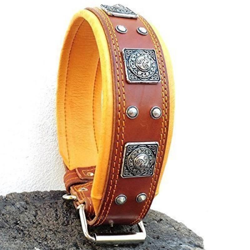 Bestia collier Eros est un veritable collier de chien en cuir, pour les grandes races de chiens: cane corso, Rottweiler, Boxer, Bullmastiff, Dogo, collier de ch TOP 2 image 0 produit