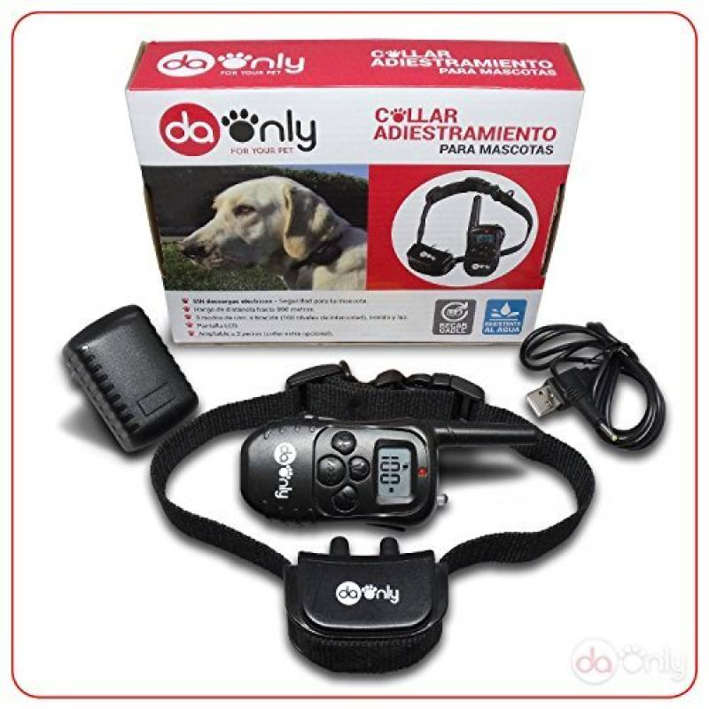 Collier de dressage anti aboiement pour chien avec fonction de vibration, sonore et lumineux, control télécommande pour chiens, dressage anti aboiement, collier TOP 11 image 0 produit