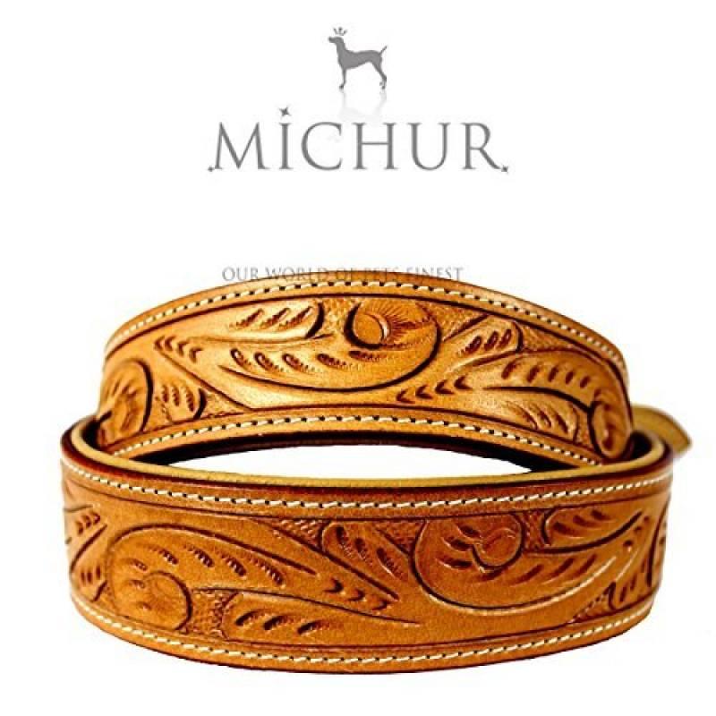 Felipe - Collier pour chien en cuir - Couleur : beige de la marque Michur TOP 8 image 0 produit