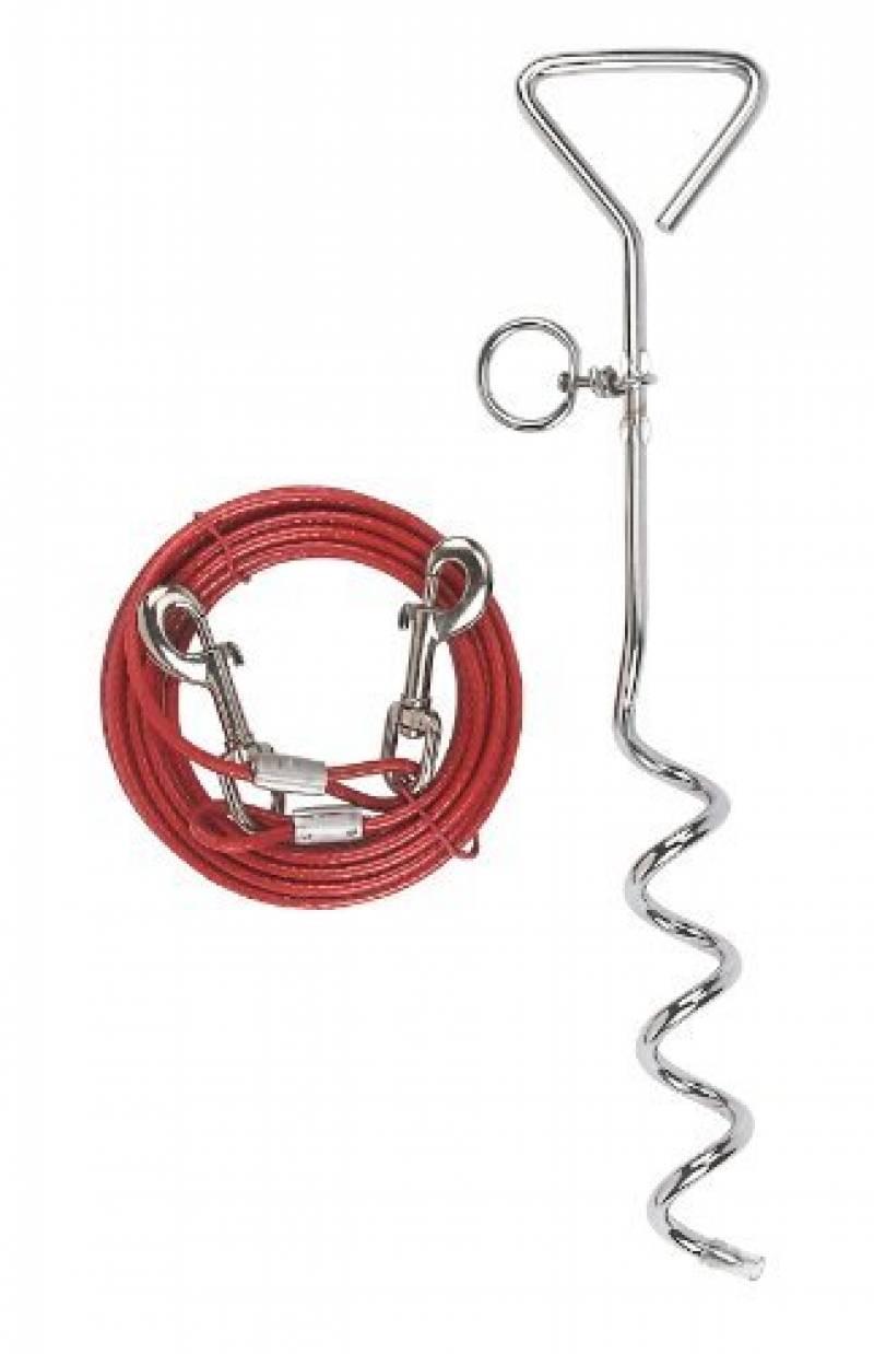 Kerbl Chien Laisse d'Attache avec Ancrage Spirale 6 m Rouge de la marque Kerbl TOP 6 image 0 produit