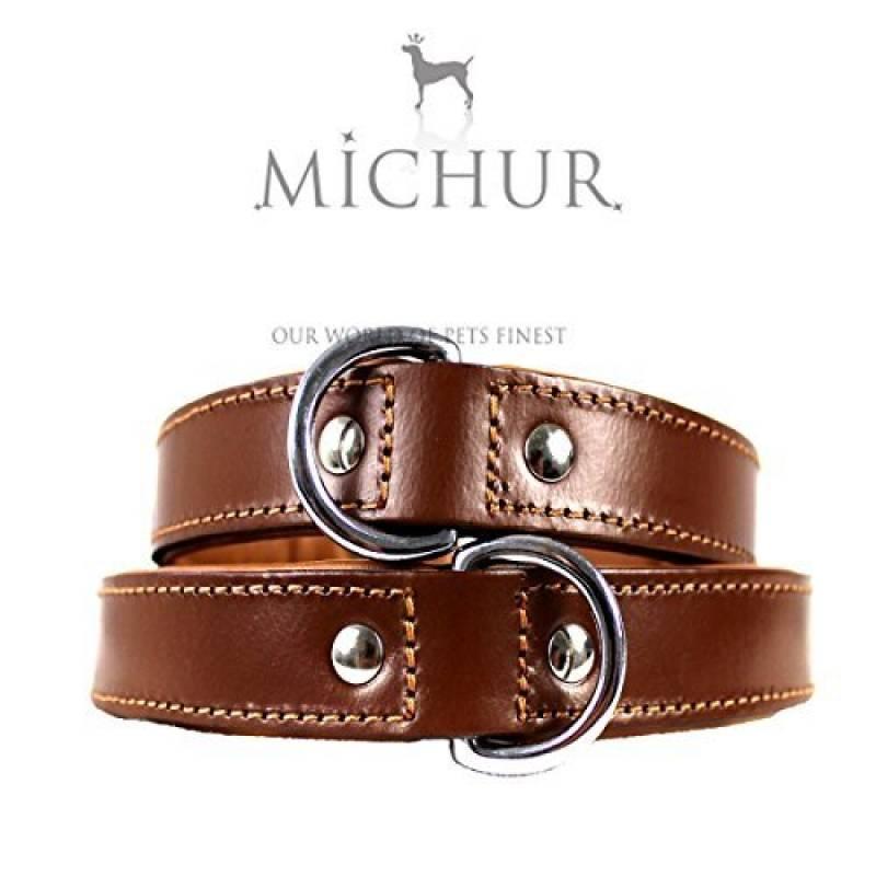 Miami Marron- Collier en cuir pour chien - Couleur : Marron de la marque Michur TOP 7 image 0 produit