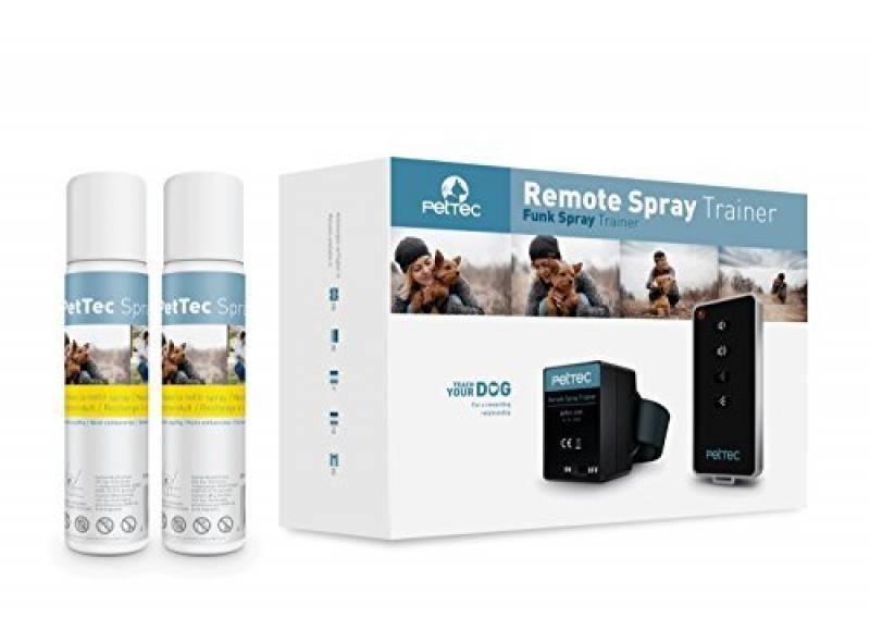 PetTec Dresseur Spray à distance Anti aboiement avec Signal Sonore et Spray, incl. 2x Recharges Citronnelle + Batteries de la marque PetTec TOP 5 image 0 produit