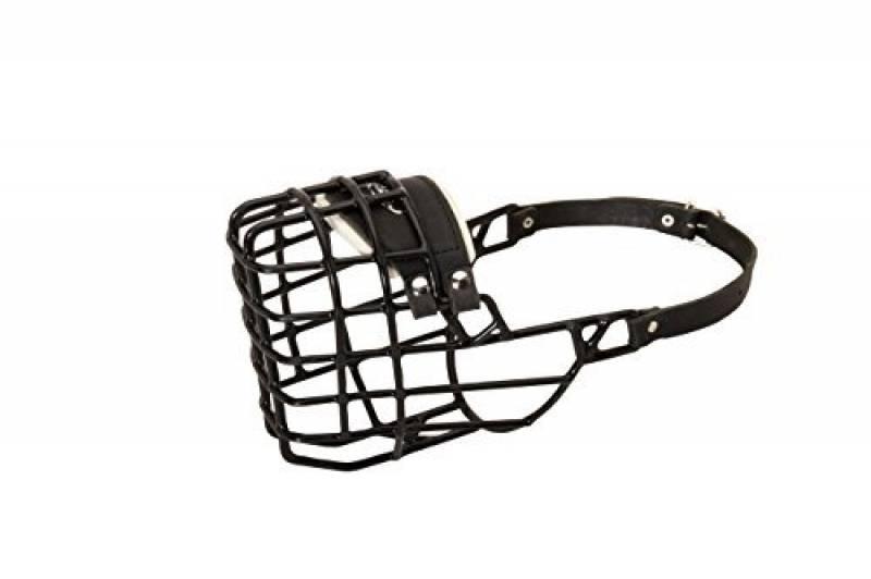 Cage muselière pour chien pour les activités d'hiver avec housse en caoutchouc noir de la marque Exclusive Dog Supplies TOP 2 image 0 produit