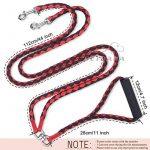 Laisse Double Anti Enchevêtrement, PETBABA 1.4m Longue Nylon Laisse de Dressage avec Poignée Rembourrée pour 2 Chiens Rouge de la marque PETBABA TOP 7 image 5 produit