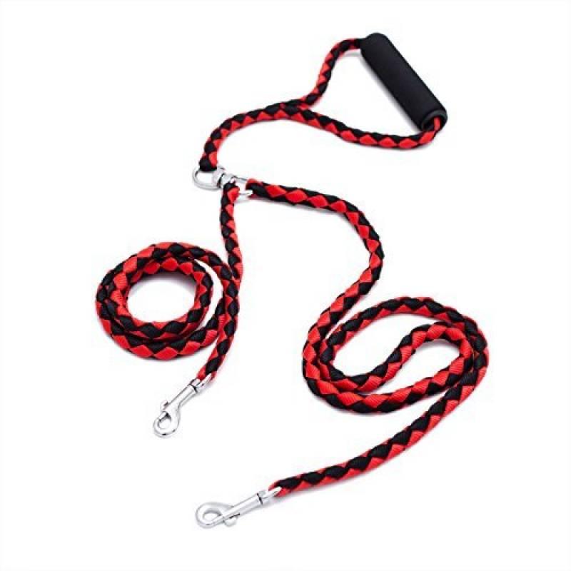 locisne sans enchevêtrement Laisse pour chien double pour 2chiens en nylon 1,4m (Rouge et Noir) de la marque Locisne TOP 2 image 0 produit