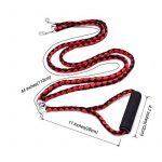 locisne sans enchevêtrement Laisse pour chien double pour 2chiens en nylon 1,4m (Rouge et Noir) de la marque Locisne TOP 2 image 3 produit
